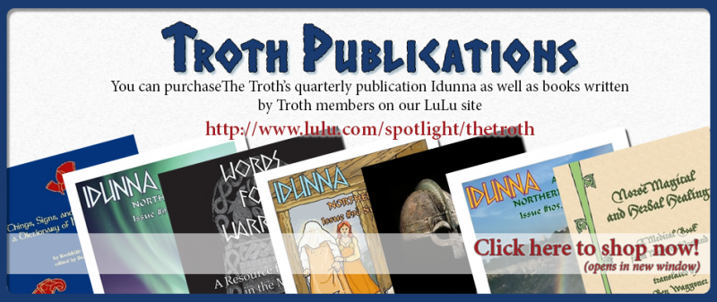 Troth Publications Merchandise